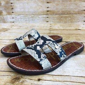 Sam Edelman Leather Snake Print Keen Sandals